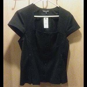 Express design studio button black shirt size 14